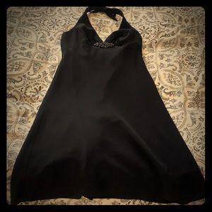 Black polyester cocktail dress worn once